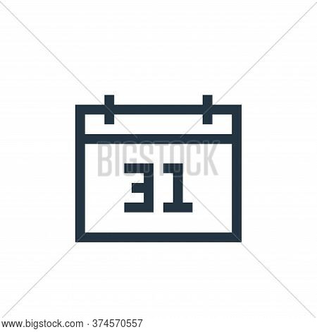 calendar icon isolated on white background from insurance collection. calendar icon trendy and moder