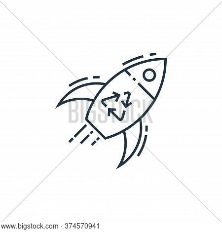 rocket icon isolated on white background from environment and eco collection. rocket icon trendy and