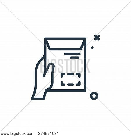 envelope icon isolated on white background from work from home collection. envelope icon trendy and