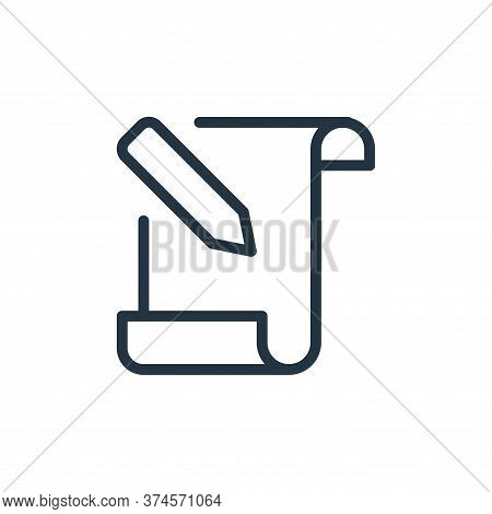 letter icon isolated on white background from work office supply collection. letter icon trendy and