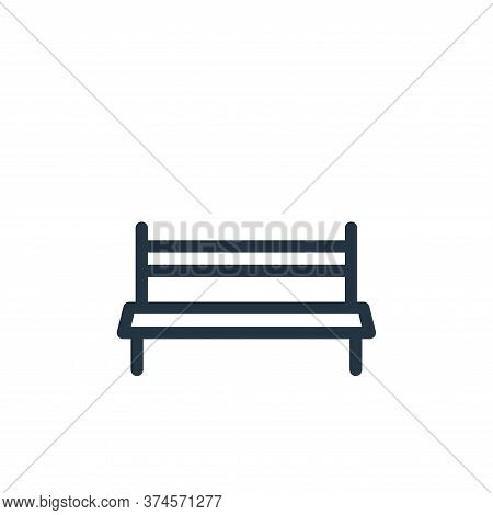 bench icon isolated on white background from holiday collection. bench icon trendy and modern bench