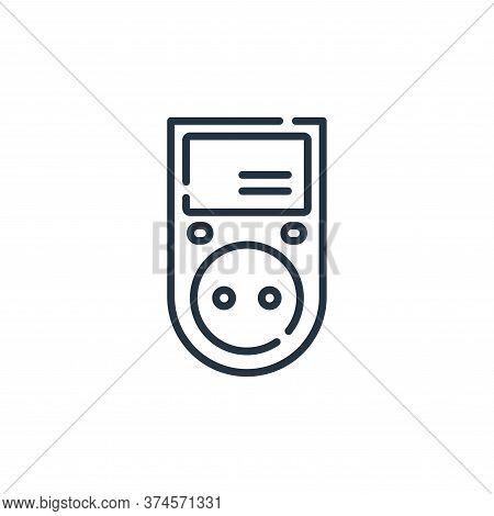power meter icon isolated on white background from electrician tools and elements collection. power