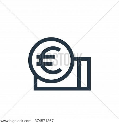 euro icon isolated on white background from holland collection. euro icon trendy and modern euro sym
