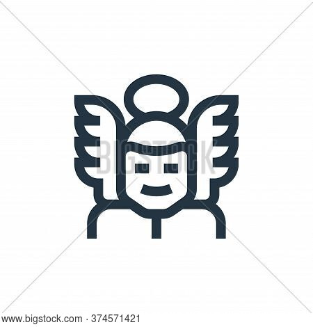 angel icon isolated on white background from fantastic characters collection. angel icon trendy and
