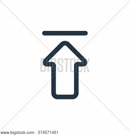 upload icon isolated on white background from interface collection. upload icon trendy and modern up