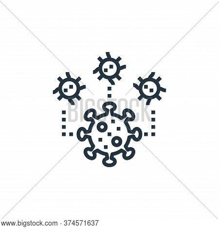 coronavirus icon isolated on white background from coronavirus collection. coronavirus icon trendy a