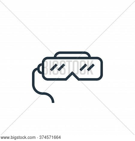 virtual reality glasses icon isolated on white background from hardware collection. virtual reality