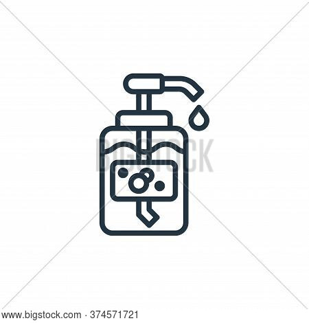 liquid soap icon isolated on white background from laundry collection. liquid soap icon trendy and m