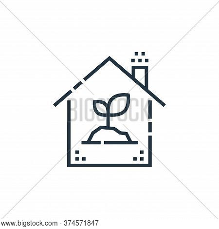 eco house icon isolated on white background from smarthome collection. eco house icon trendy and mod