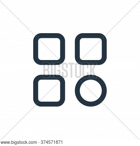 options icon isolated on white background from interface collection. options icon trendy and modern