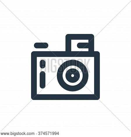 digital camera icon isolated on white background from electronics collection. digital camera icon tr