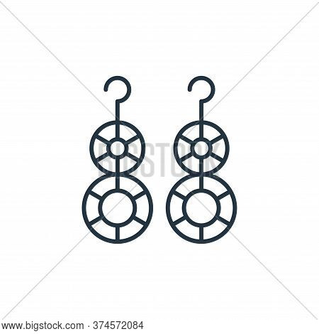 earrings icon isolated on white background from accessory collection. earrings icon trendy and moder
