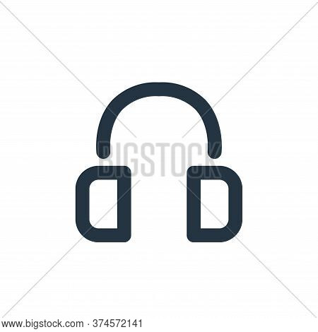 headset icon isolated on white background from electronics collection. headset icon trendy and moder