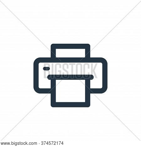 printer icon isolated on white background from electronic and device collection. printer icon trendy