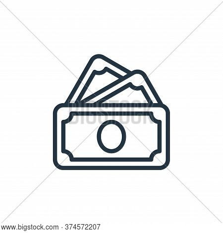 cash icon isolated on white background from money collection. cash icon trendy and modern cash symbo