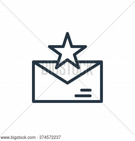 starred icon isolated on white background from contact collection. starred icon trendy and modern st