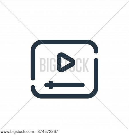 video icon isolated on white background from seo collection. video icon trendy and modern video symb