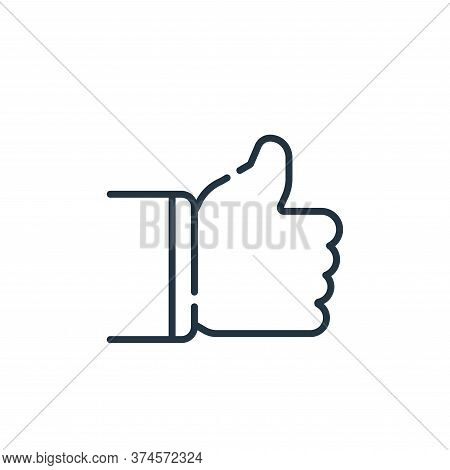 thumbs up icon isolated on white background from social media collection. thumbs up icon trendy and
