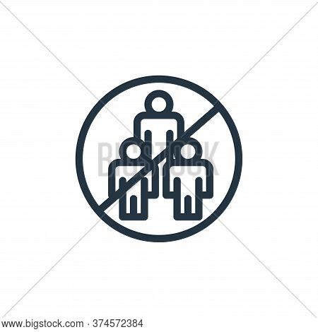avoid crowds icon isolated on white background from coronavirus collection. avoid crowds icon trendy