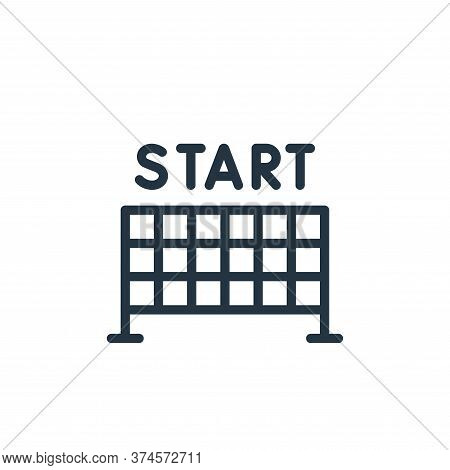 start icon isolated on white background from autoracing collection. start icon trendy and modern sta