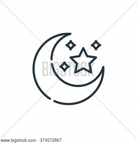 moon icon isolated on white background from desert collection. moon icon trendy and modern moon symb