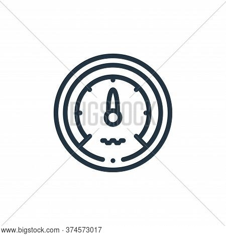 speedometer icon isolated on white background from taxi service collection. speedometer icon trendy