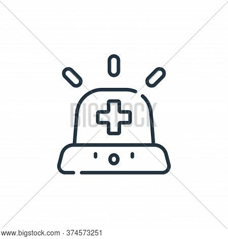 emergency icon isolated on white background from medical services collection. emergency icon trendy