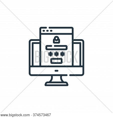 login icon isolated on white background from web development collection. login icon trendy and moder
