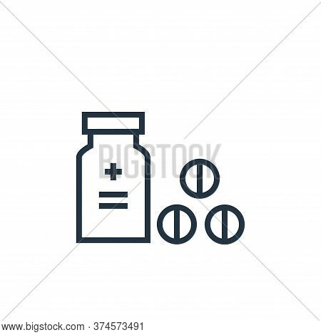 drugs icon isolated on white background from hospital collection. drugs icon trendy and modern drugs