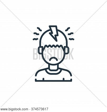 headache icon isolated on white background from allergies collection. headache icon trendy and moder