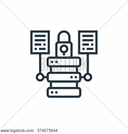 data security icon isolated on white background from data analytics collection. data security icon t