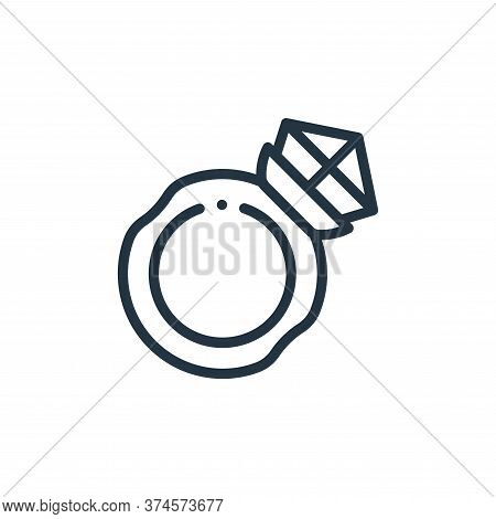 diamond ring icon isolated on white background from videogame elements collection. diamond ring icon