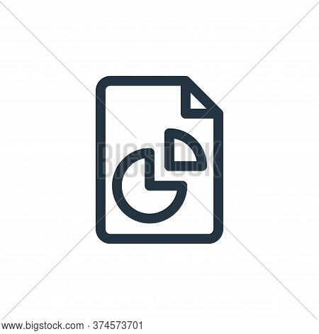analytics icon isolated on white background from document and files collection. analytics icon trend