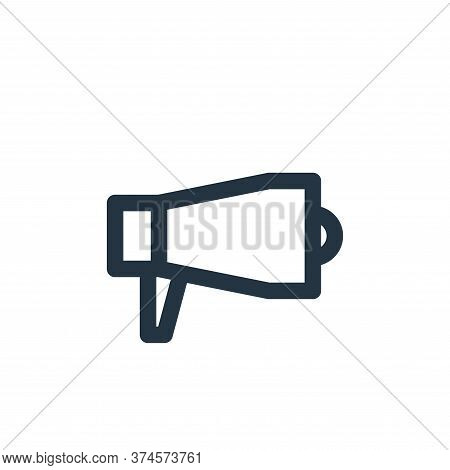 megaphone icon isolated on white background from multimedia collection. megaphone icon trendy and mo