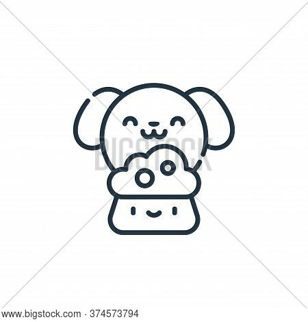 dog food icon isolated on white background from animal welfare collection. dog food icon trendy and