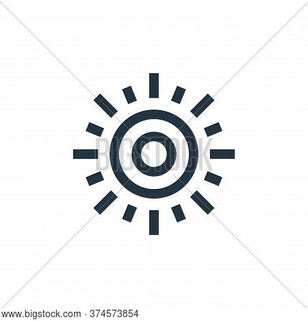 sun icon isolated on white background from hippies collection. sun icon trendy and modern sun symbol