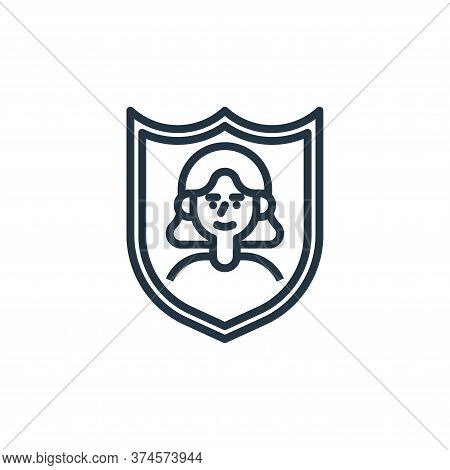 security icon isolated on white background from user experience collection. security icon trendy and