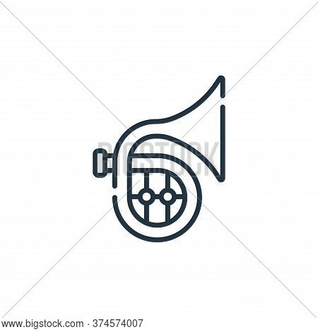 french horn icon isolated on white background from music collection. french horn icon trendy and mod