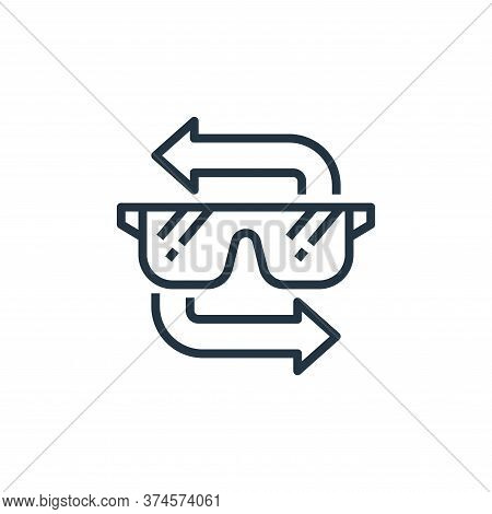 goggle icon isolated on white background from recycling collection. goggle icon trendy and modern go