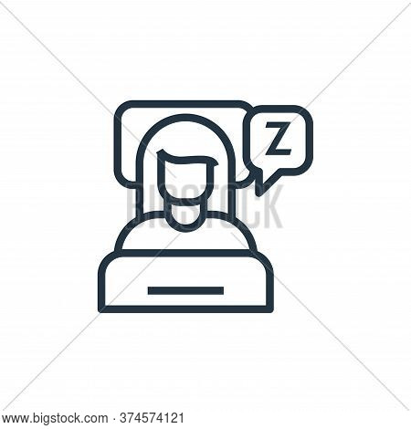 sleeping icon isolated on white background from stay at home collection. sleeping icon trendy and mo