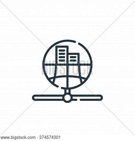 public icon isolated on white background from database and servers collection. public icon trendy an