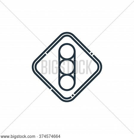 traffic lights icon isolated on white background from signaling collection. traffic lights icon tren
