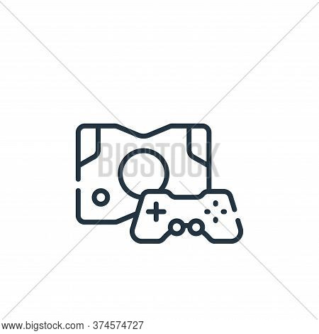 game console icon isolated on white background from videogame collection. game console icon trendy a