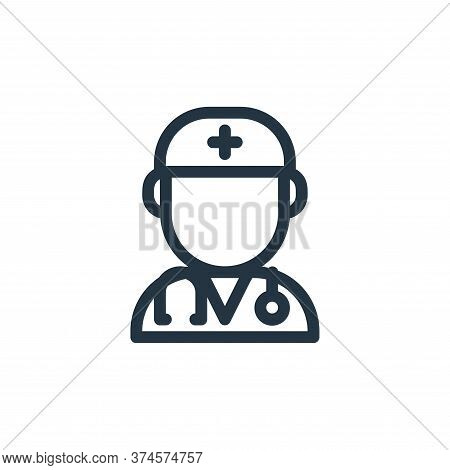 doctor icon isolated on white background from medical tools collection. doctor icon trendy and moder