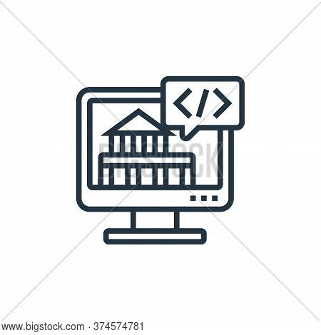 digital services icon isolated on white background from digital transformation collection. digital s