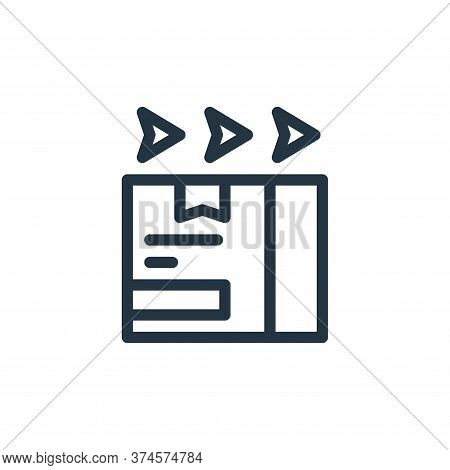 fast delivery icon isolated on white background from ecommerce collection. fast delivery icon trendy