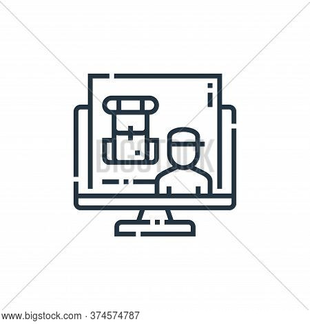 Backpacker icon isolated on white background from videoblogger collection. Backpacker icon trendy an