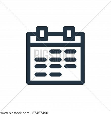 calendar icon isolated on white background from marketing business collection. calendar icon trendy