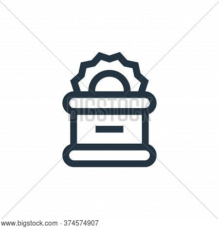 canned food icon isolated on white background from pet shop collection. canned food icon trendy and