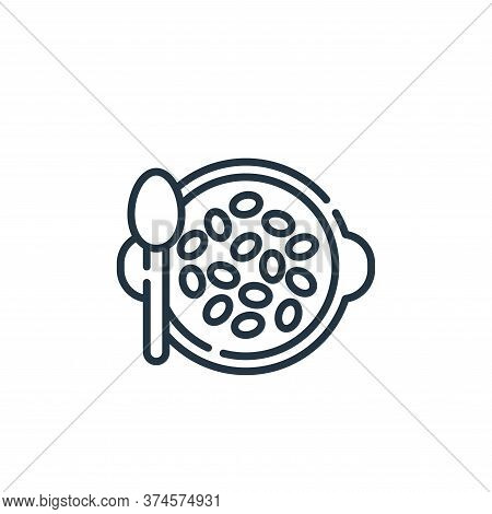 seeds icon isolated on white background from vegan food collection. seeds icon trendy and modern see